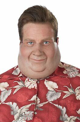 Super Size Mask Fat Overweight Half Face Costume Halloween Accessory Chubby