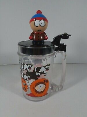 1998 Comedy Central South Park Kenny Stan Cow Plastic Lidded Beer  Mug Stein