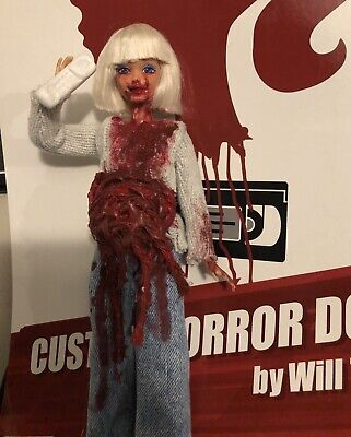 "SALE! Sidney Prescott CUSTOM HORROR DOLL OOAK 12"" SCREAM Action Figure Neve"