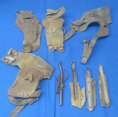 Mixed Lot 8 Antique Corn Husker Vintage Corn Peg Corn Sheller Steel Cast Iron