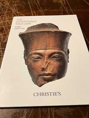 christies auction catalogue The Exceptional Sale 2019 ( Head Of God Amen)