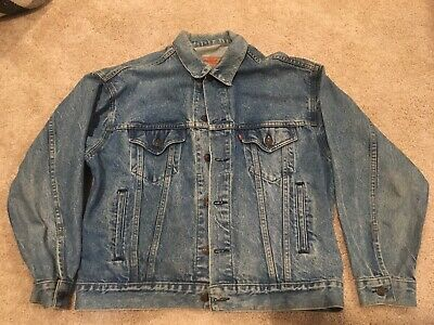 Vintage Levi's 70507-0214 Men's Blue Denim Trucker Jean Jacket Size Medium USA