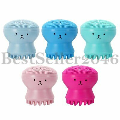 5pcs Exfoliating Silicone Facial Cleaner Skin Pore Cleanser Scrubber Brushes Set