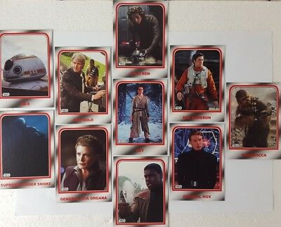 JOURNEY TO STAR WARS  THE LAST JEDI Trading Card Set CHOOSE YOUR DESTINY ( 10 )
