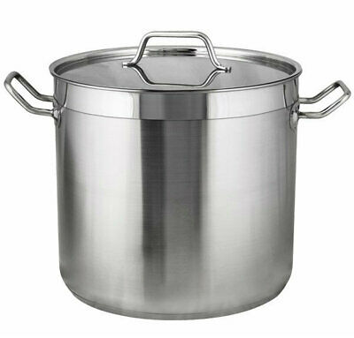 FDG53222 Stockpot-RPLD Stockpot Quality 5 Stainless Steel Deep with Reinforce...
