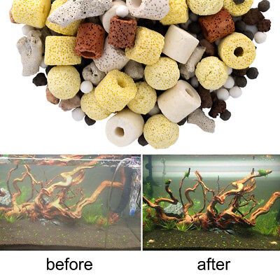 Aquarium Porous Ceramic Filter Media Fish Tank Koi Pond Carbon Biological Ball