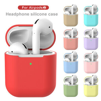 For AirPods 2nd Headphone Case Soft Silicone 360° Protective Charging Cover Skin