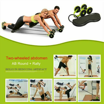 Abdominal Power Roll AB Trainer Waist Slim Exercise Core Double Wheel Fitness 1X