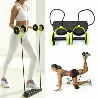 Abdominal Wheel Core Double AB Roller Exercise Equipment,Waist Slimming Trainer