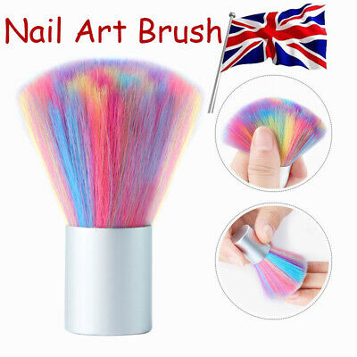 Soft Nail Art Brush Acrylic UV Gel Powder Dust Remover Mix-Color Cleaning Tool