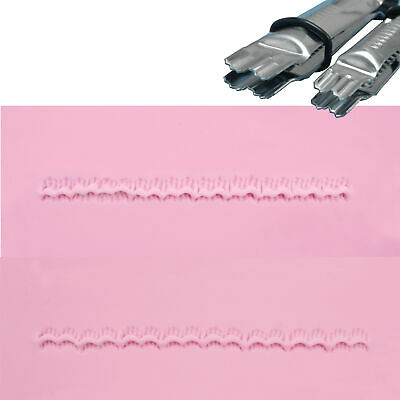 PME CLOSED SCALLOP SERRATED Metal Crimpers Emboss for Sugarcraft Cake Decorating