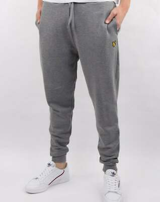 Lyle And Scott Slim Fit Sweat Pants in Mid Grey Marl - joggers, tracksuit bottom