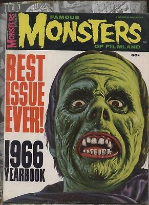 Famous Monsters of Filmland Magazine 1966 Yearbook Fearbook 100pg Giant HiGrade