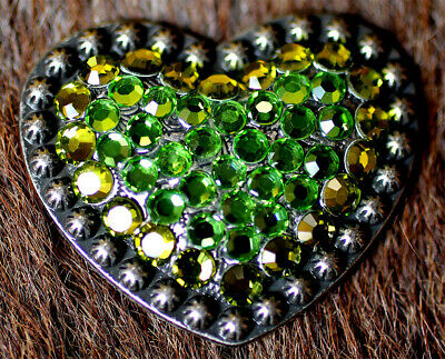 4 Conchos Rhinestone Horse Saddle Western Rodeo Bridle Heart CO25