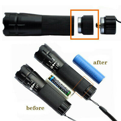 Extension Tube For Flashlight Torch 18650 Battery Extended Lengthen Fitting A