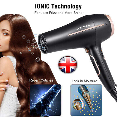 Beautural Hot Professional Style Hair Dryer w/ Diffuser &Nozzle Salon Styler