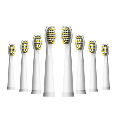 8 Fairywill M-Shaped Electric Toothbrush Replacement Heads for FW508/507/917/959