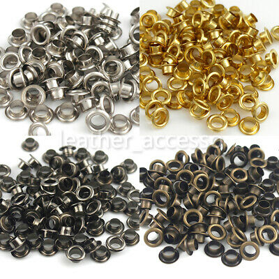100sets Brass Eyelet with Washer Leather Craft Repair Grommet 3.5/4/4.5/5/6 mm