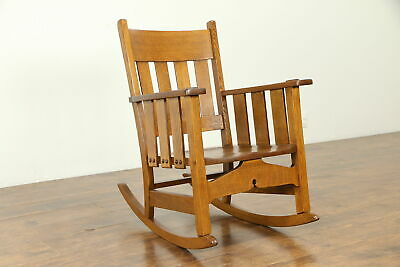 Arts & Crafts Mission Oak Antique Craftsman Rocker or Rocking Chair #31565