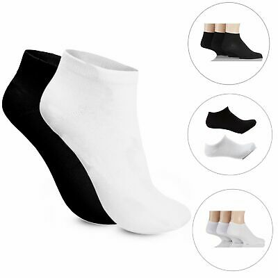 3/6/9 Pairs Mens Womens Trainer Comfortable soft Cotton Sports Ankle Socks LOT