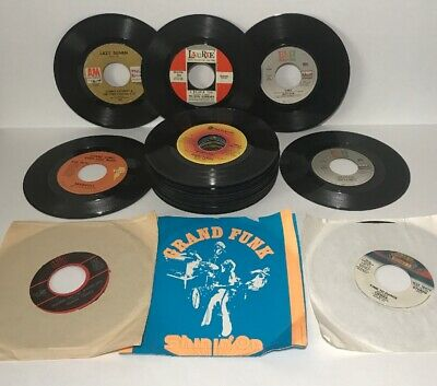 Lot of 36 Records 45rpm Bee Gees Ray Stevens Ojay's Random Bundle