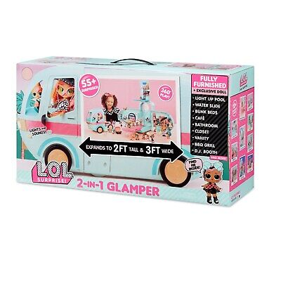 LOL SURPRISE! GLAMPER 2-in-1 CAMPER / DOLL HOUSE with 55+ SURPRISES -
