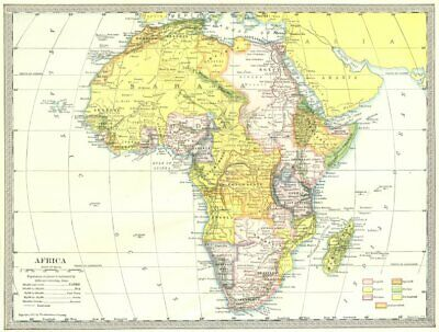 COLONIAL AFRICA. Rhodesia British East Africa French Sudan Congo State 1907 map