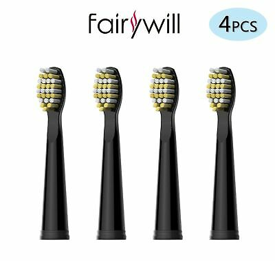 Fairywill Electric Toothbrush Heads x 4  Firm Bristles for FW-507/508/917/959