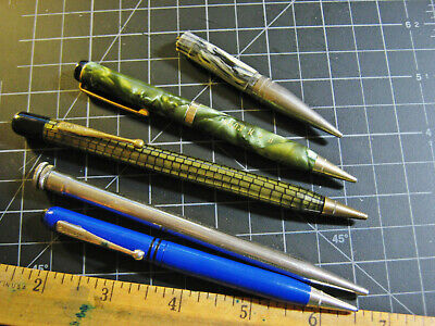 lot of vintage mechanical pencils, some work but sold for Parts Repair vtg lead