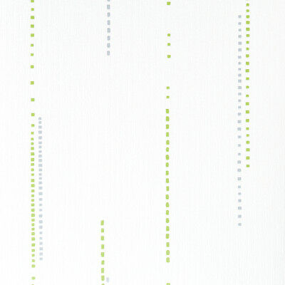 Graham & Brown Textured Wallpaper Roll - Patterned - White & Green - 20-203