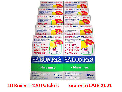 Salonpas Patch Pain Relieving 10 Boxes 120 Patches - Fast Shipping From Sydney