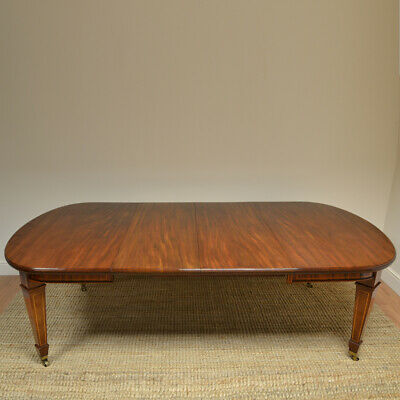 High Quality Victorian Mahogany Wind-Out Extending Antique Dining Table