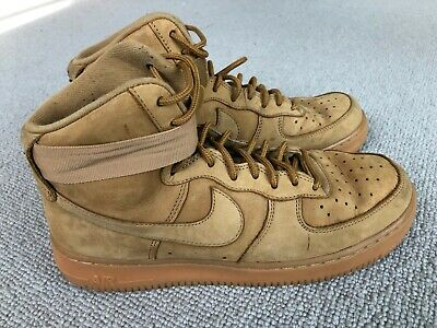 NIKE AIR AIR Force 1 wheat flax 07 lv8 mid high top size 2
