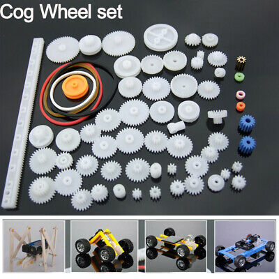 Cog Wheel Plastic Gear Pulley Innovative Intelligence Toy Motor Robot Children