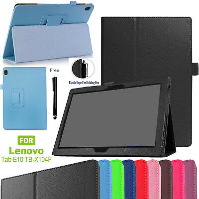 CASE For Lenovo Tab E10 32GB TB-X104F fold Leather Protective Stand Cover+pen