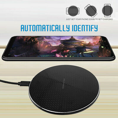 Wireless Charger Qi 10W Fast Charging for iPhone X 8 XS XR Samsung S10 S9 Baseus
