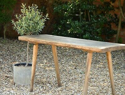 FABULOUS ANTIQUE FRENCH BUTCHERS/PIG TABLE ~ RUSTIC CONSOLE or HALL TABLE