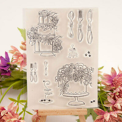 Cake Silicone Clear Transparent Rubber Stamps and Cutting Dies DIY Scrapbooking