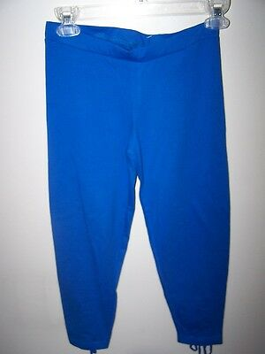 Girls sz 8 Stretch Leggings blue One Step Up Crop cotton/span pants size Small