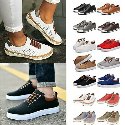 Men Women Trainers Casual Flat Loafers Lace Up / Slip On Summer Pumps Shoes Size