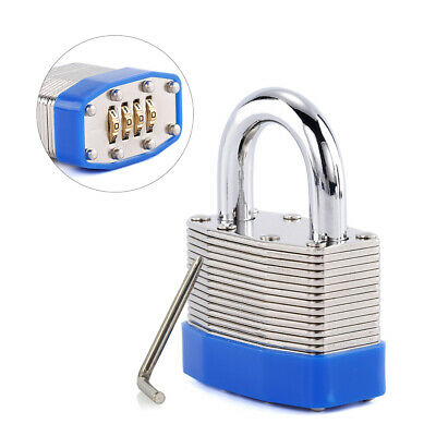 4-Digit Bottom Resettable Combination Padlock Anti-Theft for Storage Gate L5C8