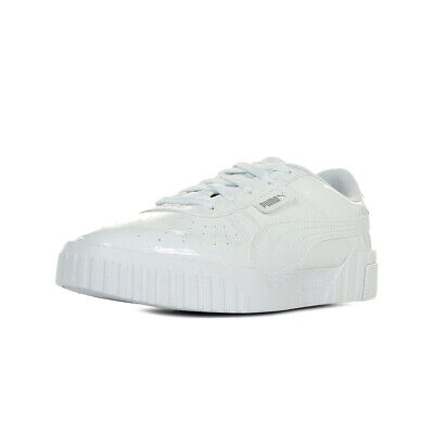 CHAUSSURES BASKETS PUMA fille Cali Patent Jr taille Blanc Blanche Synthétique