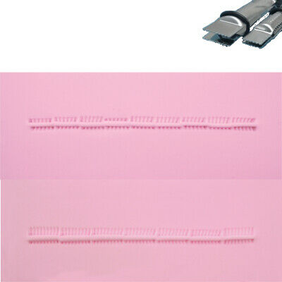 PME CLOSED STRAIGHT LINE SERRATED Metal Crimper Press Sugarcraft Cake Decorating