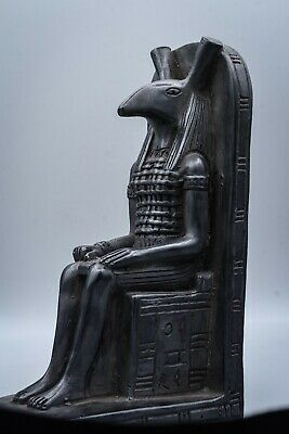 Unique Egyptian god set  (Seth) Seated on Throne statue made in egypt