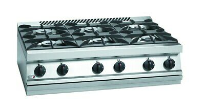 Fagor 700 Series Natural Gas 6 Burner SS Boiling Top CG7-60H