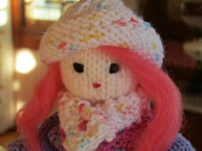 Pinnk - Hand Knitted Artisan Doll By Ophelia's Dolls & Bears.