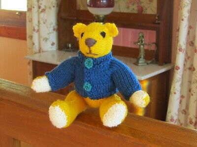 Rufus - Hand Knitted Artasan Bear By Ophelia's Bears & Dolls.