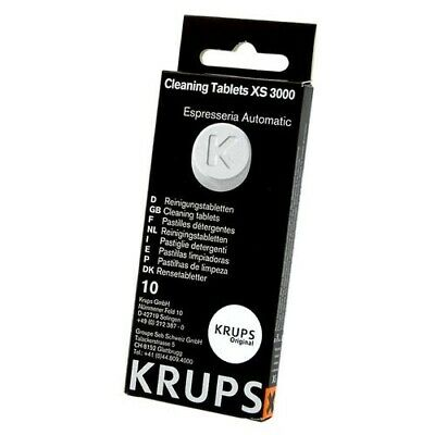 Krups XS3000 Cleaning Tablets Pack of 10 Tablets