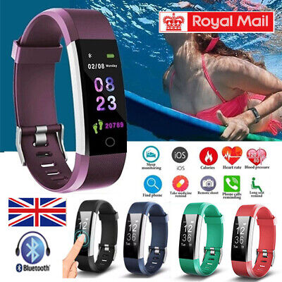 Sports Fitness Tracker Watch Heart Rate Blood Pleasure Activity Monitor Fit bit