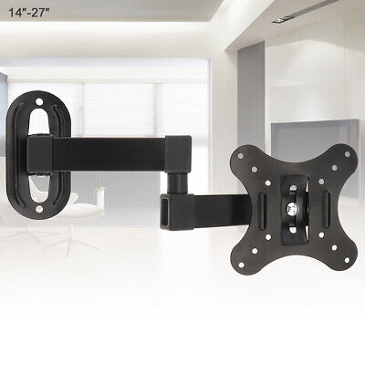 TV Wall Mount Bracket Panel Frame for 14 - 27 Inch LCD LED Monitor Flat Pan